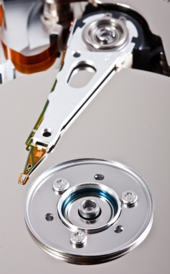 tête de lecture d'un disque dur