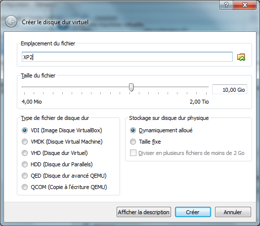 disque dur virtuel