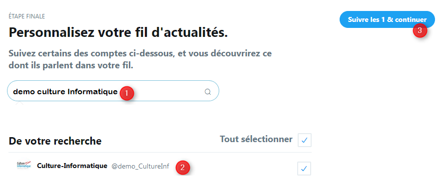 compte twitter création