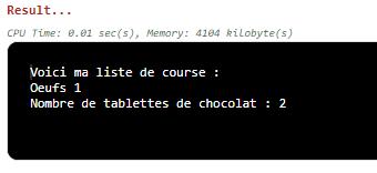 programmation variables