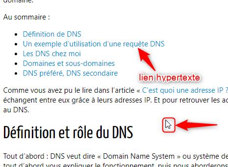 lien hypertexte